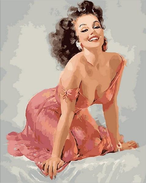 Картина по номерам 40×50 см. Mariposa Девушка пин-ап (Q 1900)