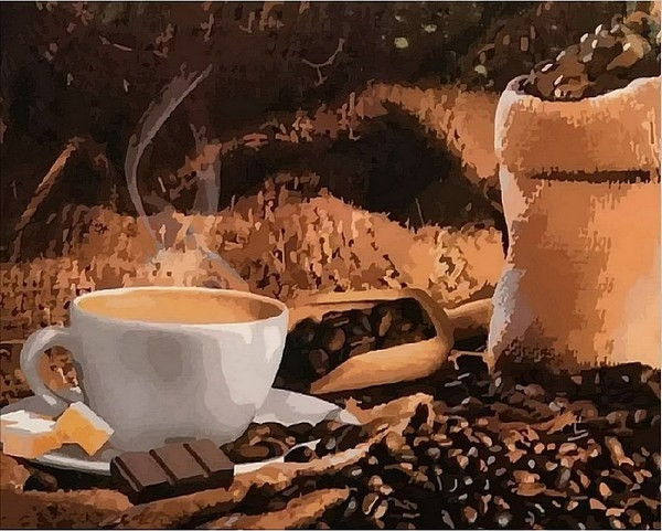 Картина по номерам 40×50 см. Mariposa Кофе с шоколадом (Q 1951)