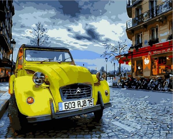 Картина по номерам 40×50 см. Mariposa Винтажное авто (Q 2090)