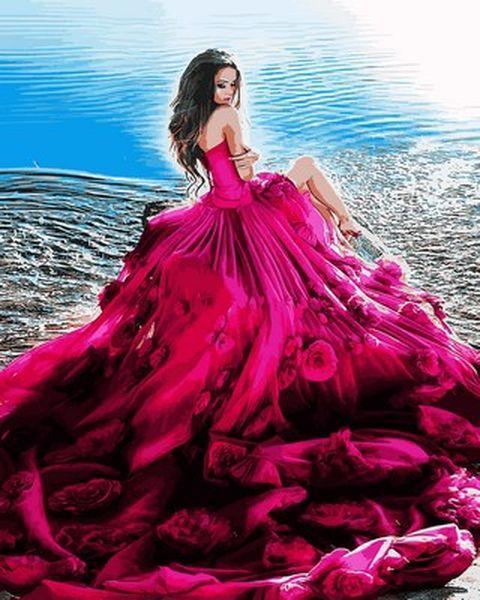 Картина по номерам 40×50 см. Mariposa Девушка в розовом (Q 2118)