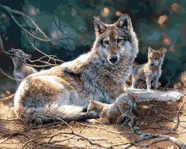 Картина по номерам 40×50 см. Mariposa Волки (Q 2120)