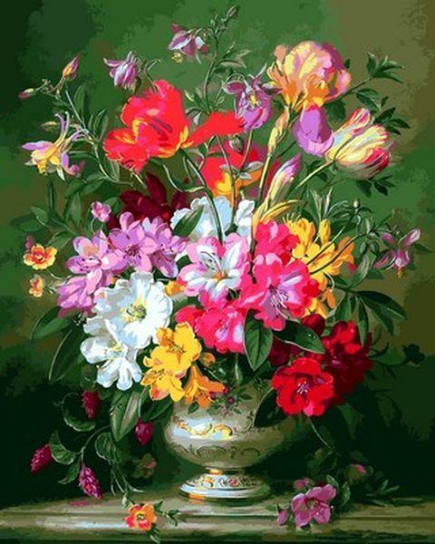 Картина по номерам 40×50 см. Mariposa Весенняя цветочная композиция Художник Альберт Уильямс (Q 2160)