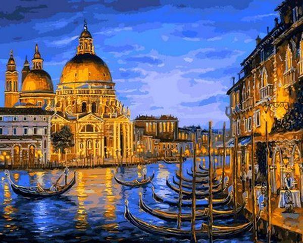 Картина по номерам 40×50 см. Mariposa Собор Санта-Мария делла Салюте Венеция Художник Роберт Файнэл (Q 2172)