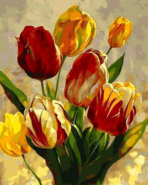 Картина по номерам 40×50 см. Mariposa Тюльпаны Художник Леон Рулетт (Q 2182)