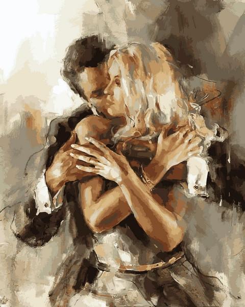 Картина по номерам 40×50 см. Mariposa Влюбленная пара Художник Анна Разумовская (Q 2216)