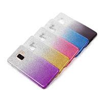 Силиконовый чехол с блестками - градиент для  Samsung Galaxy A11 (выбор цвета)