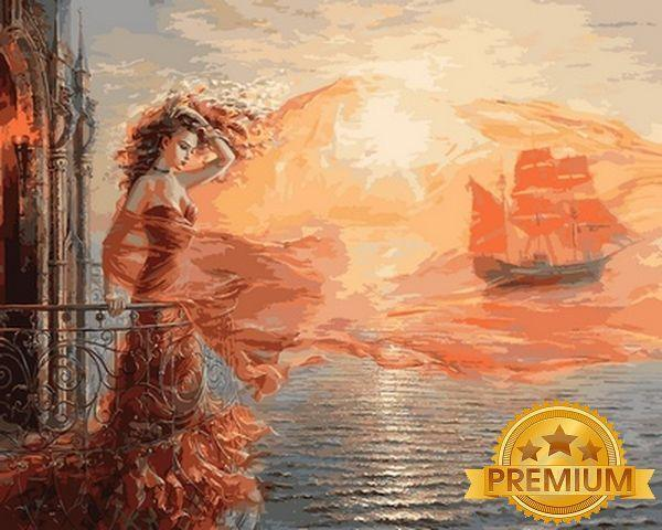 Картина по номерам 40×50 см. Babylon Premium (цветной холст + лак) Ассоль (NB 681)