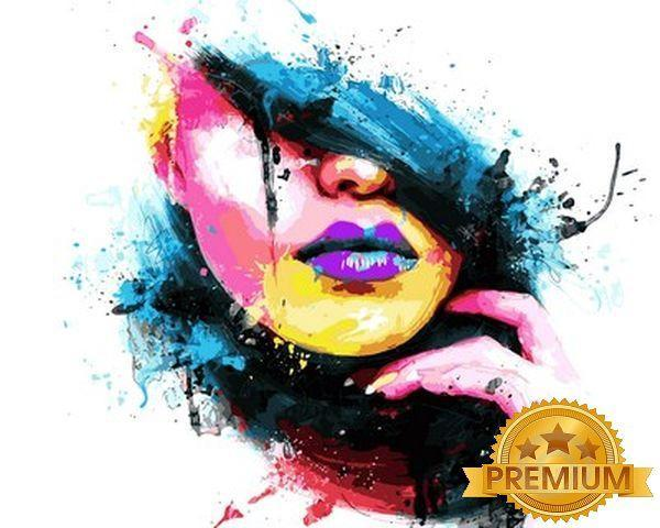 Картина по номерам 40×50 см. Babylon Premium (цветной холст + лак) Мода Художник Патрис Мурчиано (NB 749)