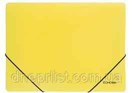 Папка на резинках А4, Economix цветная, Желтая