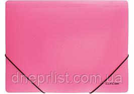 Папка на резинках А4, Economix цветная, Розовая