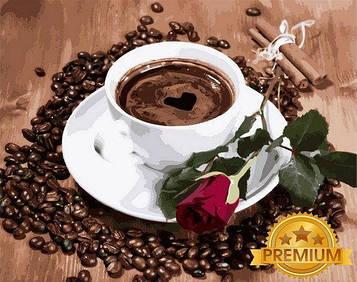 Картина по номерам 40×50 см. Babylon Premium (цветной холст + лак) Приглашение на кофе (NB 2096)