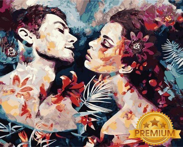Картина по номерам 40×50 см. Babylon Premium (цветной холст + лак) Неразделимые Художник Димитра Милан (NB 982)