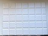 Декоративные Панели ПВХ мозаика Кожа белая, фото 2