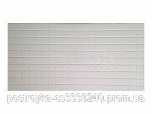 Декоративные Панели ПВХ мозаика Кожа белая