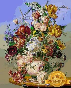 Картина по номерам 40×50 см. Babylon Premium (цветной холст + лак) Цветочные чары Художник Дьюла Шишка (NB1041)