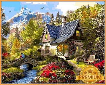 Картина по номерам 40×50 см. Babylon Premium (цветной холст + лак) Северное Утро Художник Доминик Дэвисон (NB 1154)