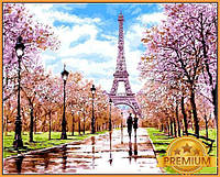 Картина за номерами 40×50 див. Babylon Premium (кольоровий полотно + лак) Рання весна Париж Художник Річард