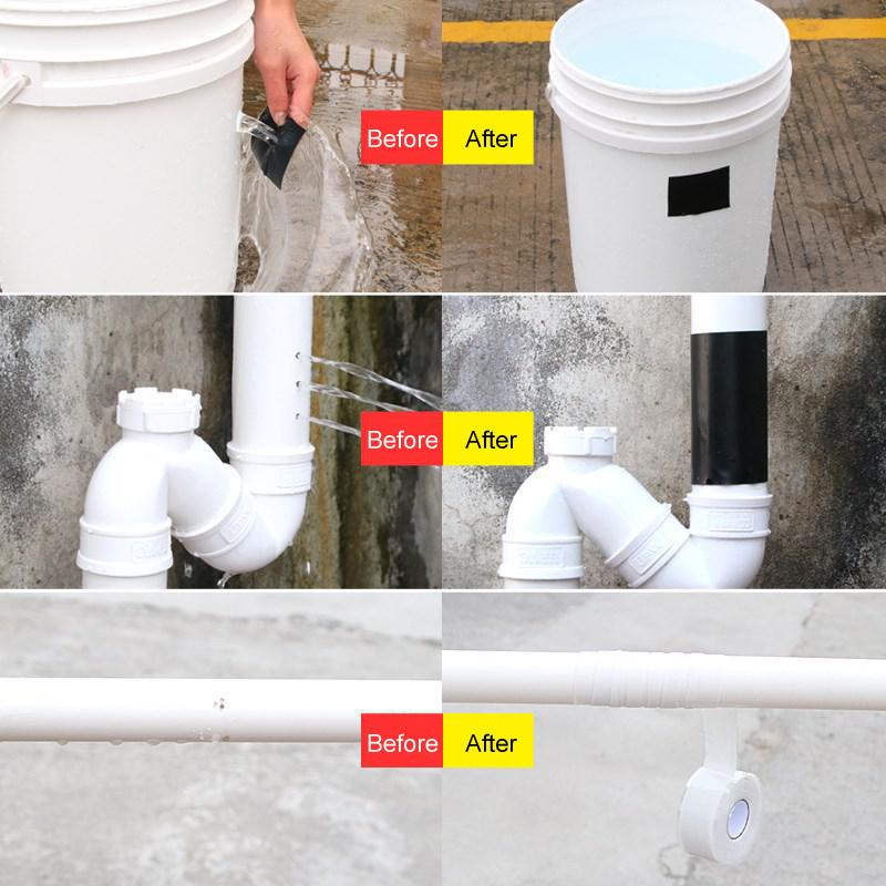 Flex Tape - универсальная супер прочная водонепроницаемая самоклеящаяся лента с защитой от протечек