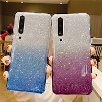 Силиконовый чехол с блестками - градиент для Samsung Galaxy M31 (выбор цвета)
