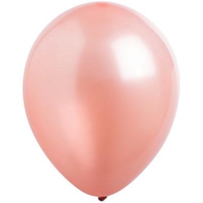 """Латексный шар без рисунка Everts Металлик Розовое золото 12"""" 30 см"""