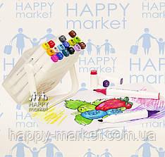 Набір двосторонні скачи маркери 36 кольору для малювання AH-PM508-36 (круглий + скошений.) в пластик. пеналі