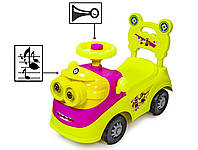 "Автомобиль-каталка толокар ""Миньоны"" 188-Yellow-Pink"