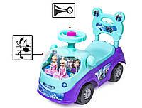"Автомобиль-каталка толокар ""Frozen"" 518-Violet-Blue"