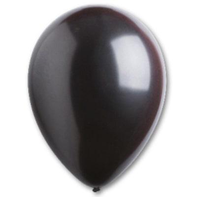"""Латексный шар без рисунка Everts Металлик Черный 12"""" 30 см"""