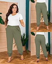 Модные женские брюки на резинке,размеры:48-50,52-54,56-58.
