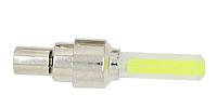 Неонова велопідсвітка для коліс, жовта / Неоновая подсветка для колес велосипеда (на нипель), желтая, фото 1