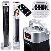 Вентилятор колонный Powermat Black Tower-120 с таймером и пультом