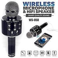 Bluetooth караоке мікрофон WSTER WS858 микрофон караоке BLACK