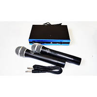 Вокальна радіосистема Behringer WM-501R, база, 2 мікрофони, 90дБ, до 60 м, Безпровідний мікрофон