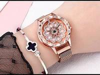 Жіночі наручні годинники Rotation Watch золотистий, кварцові, від батарейок, металева сітка, годинники жіночі, наручний годинник, Годинники