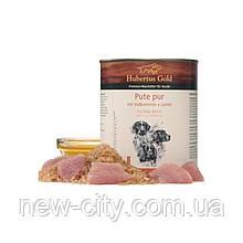 """Hubertus Gold (Хьюбертус Голд) Консервировы """"Индейка с рисом и льняное масло"""" для активных собак 800г"""