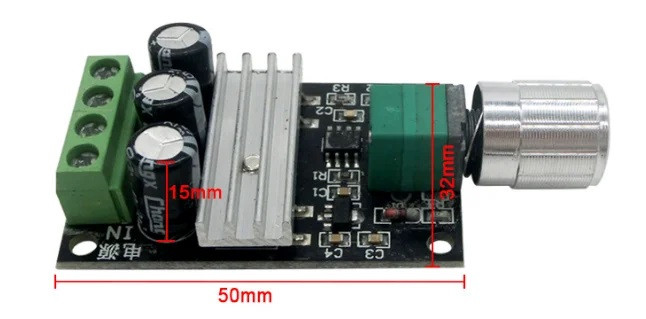 ШИМ контроллер. Управление скоростью двигателя постоянного тока с регулировкой 6-28В 3А