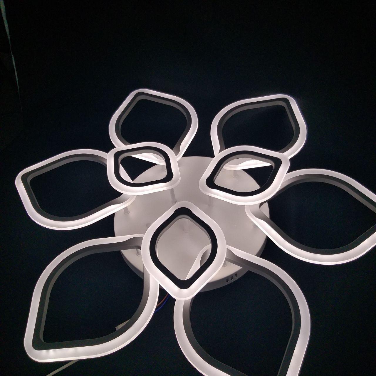 Люстра потолочная цветок LED  20-LI8838/6+3C 186W WH