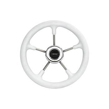 Руль Pretech 320mm белый нержавейка