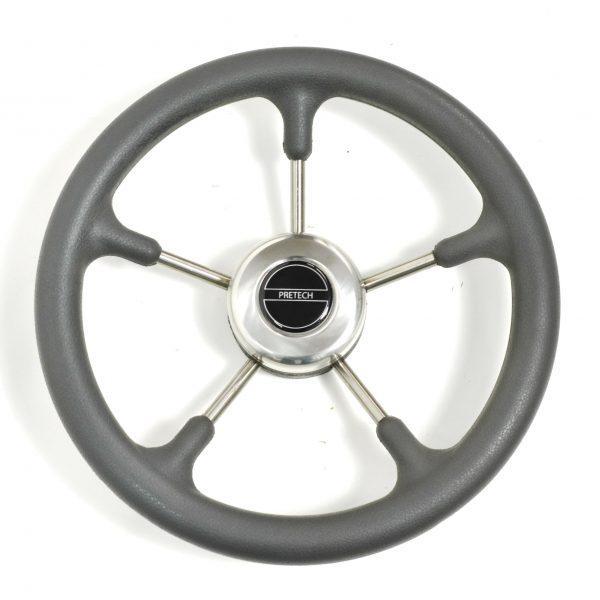 Рулевое колесо PRETECH 320mm серый нержавейка