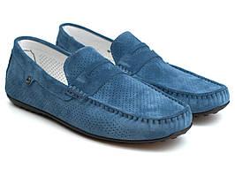 Літні сині мокасини перфорація чоловіче взуття великих розмірів Rosso Avangard ETHEREAL Blu Lagoon Vel BS