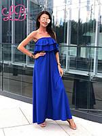 Летнее платье с воланами в пол от производителя ТМ Lady Butik