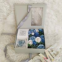 Подарок для женщины. Набор роз из мыла. Подарок на день рождения. Цветы из мыла