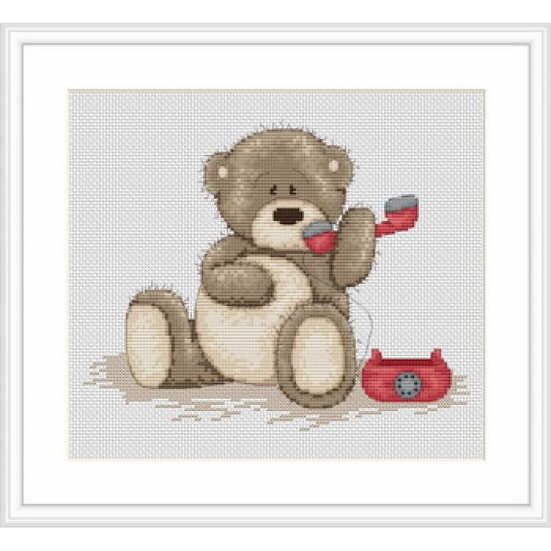 Наборы для вышивания крестом Luca S Детская Медвежонок Бруно