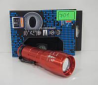 Кишеньковий світлодіодний міні - ліхтарик Bailong BL-C701 Police BL-C 701 бордо, від батарейок, ручний ліхтар, ліхтарик