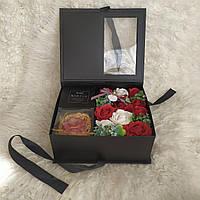 Подарок для девушки. Набор роз из мыла. Подарок на день рождения. Уникальный подарок
