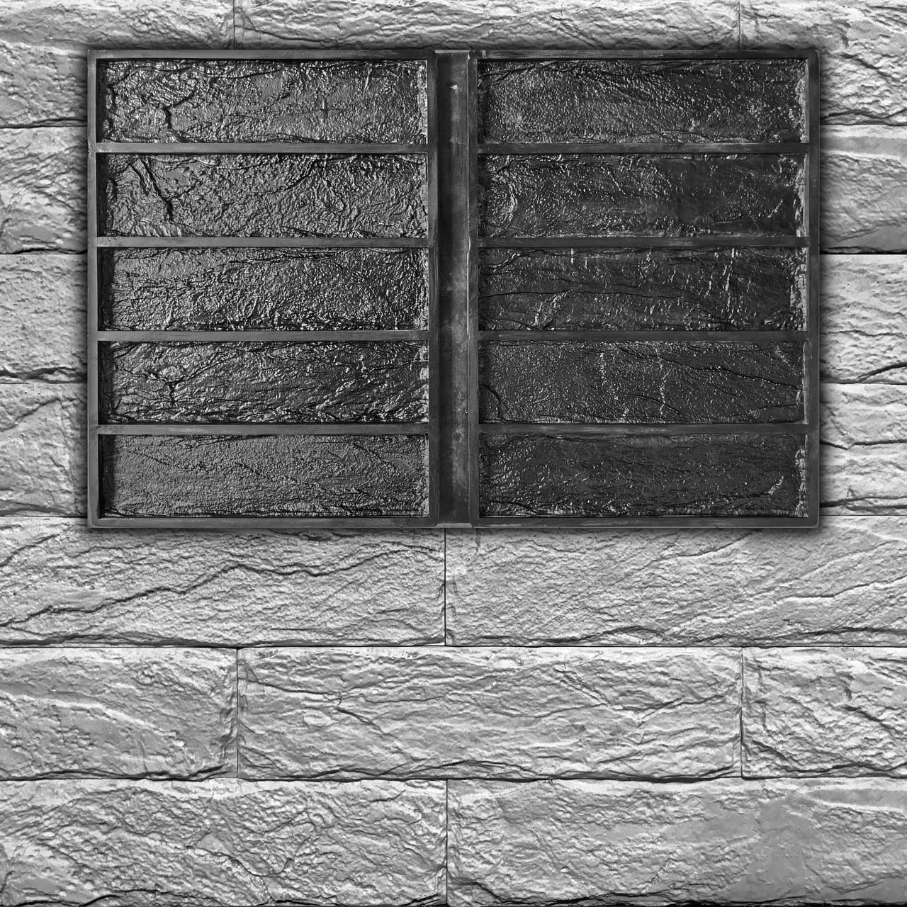 """Резиновая форма """"Кирпич Лофт"""" для декоративного кирпича. 1 форма = 0,18 м² за цикл заливки"""