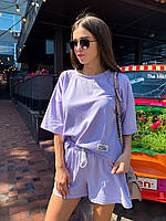 Летний женский костюм футболка с шортами