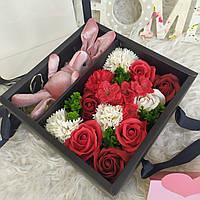 Подарок любимой. Набор роз из мыла и зайчик. Подарок на праздник. Вау подарок
