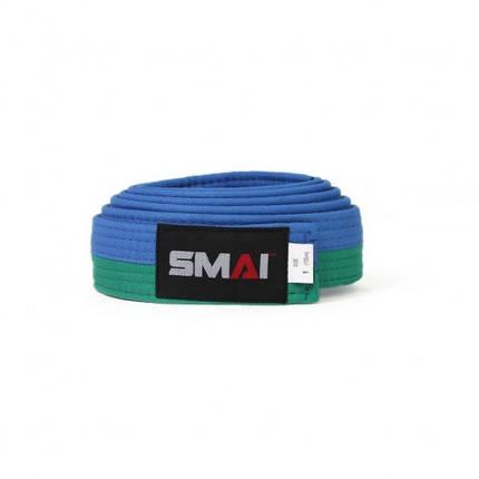Пояс для кимоно SMAI (зелено/синий), фото 2