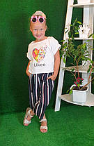 Летний костюм топ + кюлоты Likee  140,146,152, фото 2